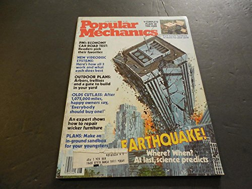 Popular Mechanics Aug 1981, Earthquake, Park Bench ()