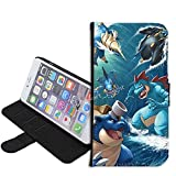 iPhone SE Case, iPhone 5s 5 Case, Pokemon Blastoise PU Leather Folio Flip Wallet Case Cover with ID Credit Card Holder with Stand for iPhone 5s/5/SE + Thewart_Eight® Stylus Pen (#118)