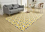SANNIX Soft Fabric Shaggy Area Rug Fluffy Living Room Carpets for Home Decor Nursery Rugs with Non-Skid Rubber Backing babysbreath 140X200CM