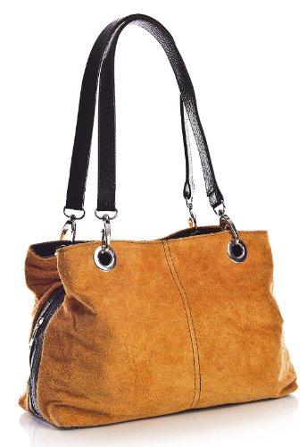Trim nero a Handbag elettrico spalla Arancio Shop Big Borse donna qzxZggR8w