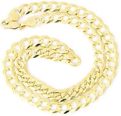 Men's Solid 14k Yellow Gold Comfort Cuban Curb Heavy 8.3mm Chain Necklace, 20