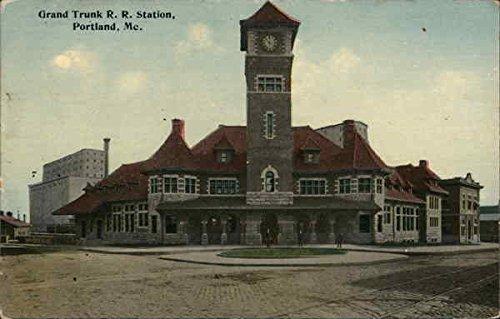 grand-trunk-rr-station-portland-maine-original-vintage-postcard