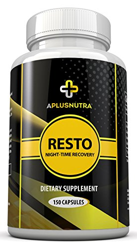 RESTO - Nightime Recovery Amino Acid and BCAA Post Workout Supplement (150 capsules) by A Plus Nutra