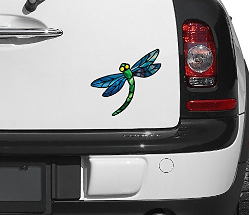 o. Dragonfly D3 - Stained Glass Style - Car Vinyl Decal Copyright (5.75