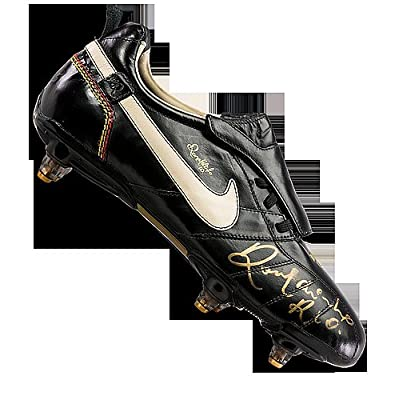 Ronaldinho Autographed Black Nike Ronaldinho Boot - Certified Authentic  Soccer Signature 103fcaa78