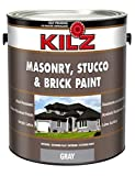 epoxy floor polish - KILZ Interior/Exterior Self-Priming Masonry, Stucco and Brick Flat Paint, 1 gallon, Gray