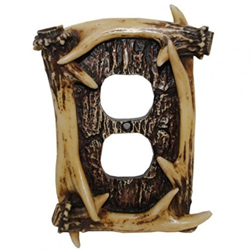(Deer Antler Single Outlet Cover Plate)