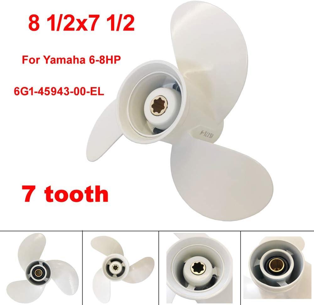 COP Boat Propeller 8 1/2x7 1/2 -N for Yamaha 6hp 8hp 9.9hp F6 F8 F9.9 /Outboard Propeller for Yamaha 2/4-stroke Engine 6G1-45943-00-EL 8.5x7.5