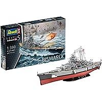 Revell- Bismarck Maqueta Acorazado, 14+ Años, Multicolor, 71,8