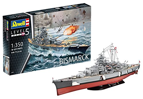 amazon com revell germany battleship bismarck model kit toys games