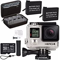 GoPro HERO4 Black + Rechargeable Battery + The Handler + Sony 32GB microSDHC Card + Case for GoPro HERO4 and GoPro Accessories Bundle