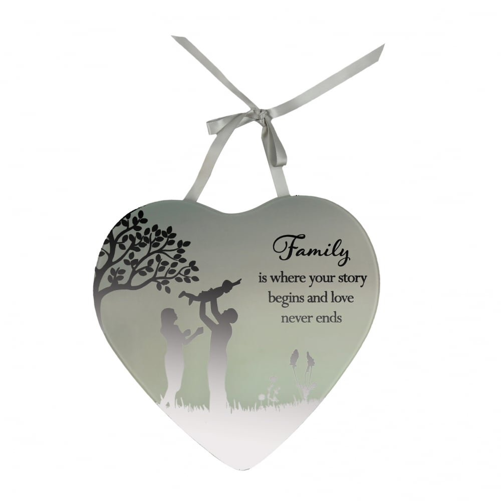 New Baby Boy Reflections From The Heart Mirrored Hanging Plaque Gift