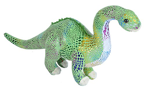 Wild Republic Diplodocus Plush, Dinosaur Stuffed Animal, Plush Toy, Gifts for Kids, Glitter 15