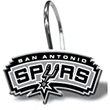 NBA San Antonio Spurs Shower Curtain Hooks 12 Piece Set