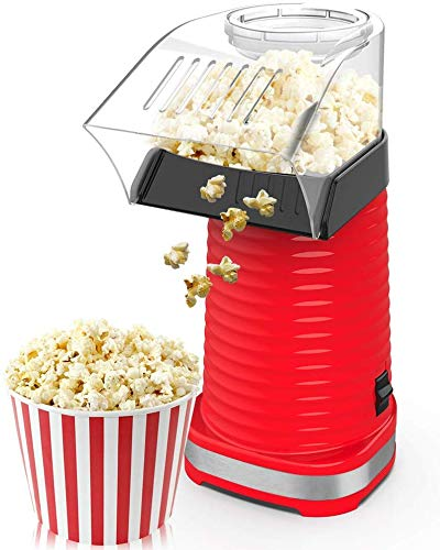 For Sale! 1200W Fast Hot Air Popcorn Popper With Top Cover, Electric Popcorn Maker Machine, Healthy ...