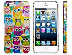 Cartoon Owls Baked Finish PC Plastic Protective Case for iPhone 5 Best Seller
