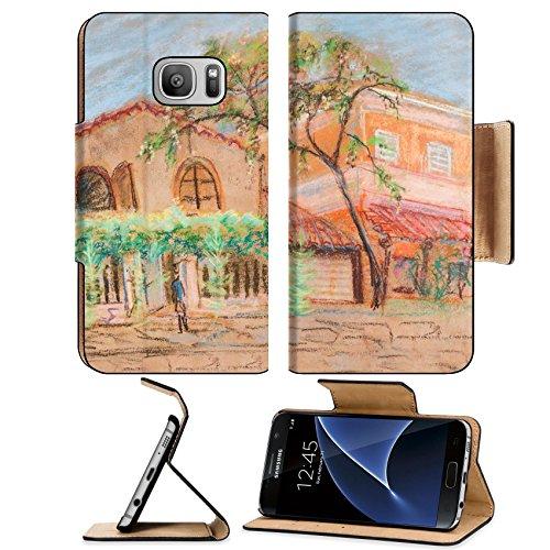 MSD Premium Samsung Galaxy S7 Flip Pu Leather Wallet Case IMAGE 33517714 Street in little Creece settlement South summer