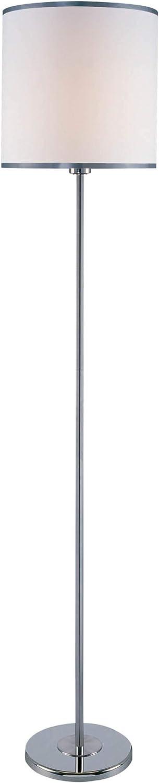 Off-White Fabric Shade Chrome Lite Source LSF-81260C//WHT Fayola Floor Lamp