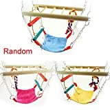 Gold Happy Hang Bed Pet Bird Toys Hamster Bird Cage Hammock Swing Climb Ladder Hanging Chew Toys for Birds Parrots