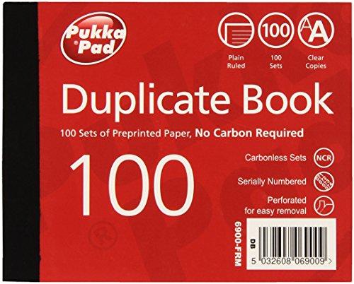 (Pukka Pads 105X130Mm Plain Ruled Duplicate Book (Pack Of 5))
