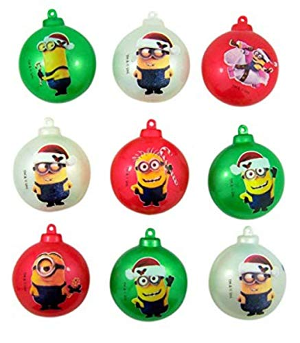 Despicable Me Minions Candy Filled Ornament Containers, Pack of 9