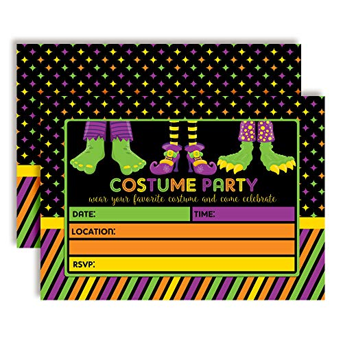 (Halloween Costume Party Invitations with Monster Feet, 20 5