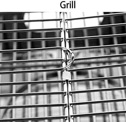 Barbecue Grill, Barbecues Au Charbon De Bois, Barbecue Portable, Matériau en Acier Inoxydable, Barbecue Au Charbon De Bois Pliable, pour Terrasse Jardin Pique-Nique