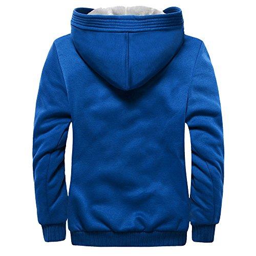 In Giubbotto Zolimx Da Per blue Invernali Cappotto Uomo Lana Uomo Blu adnf1Yn