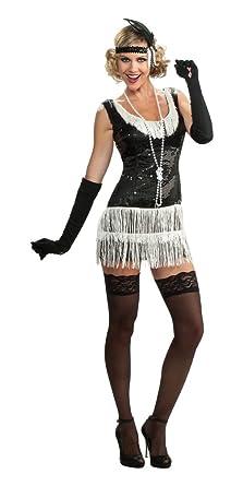 Amazon.com: Rubie&-39-s Costume Deluxe Adult Black Sequin Flapper ...
