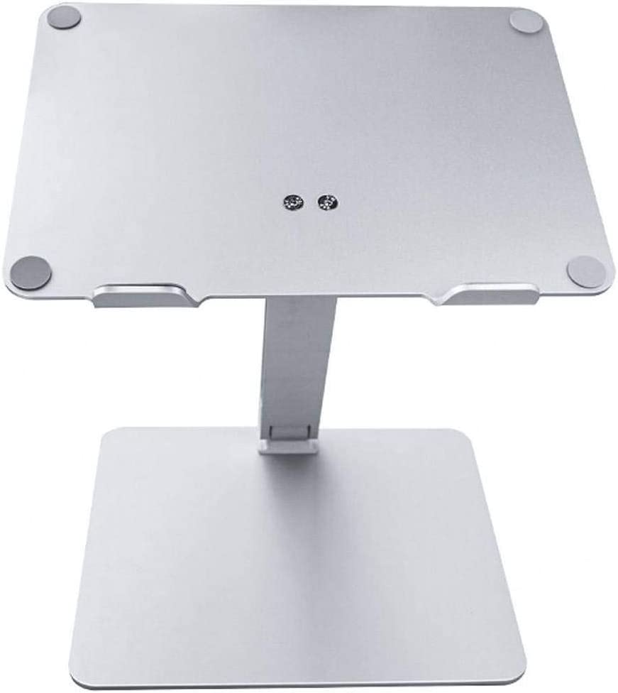 Portable Laptop Stand -Silver 10x7x6inch Aluminum Cooling Non-Slip Ventilated Ergonomic Monitor Riser Suitable for School Office Home-25x19x15cm