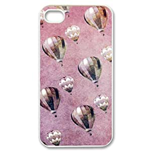 WJLCASE Design - 6WJL0414 Custom Vintage Hot Air Balloons Durable Hard Back Cover Case for Iphone 4,4S