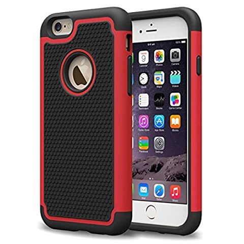Laxier Hard Shell Plastic Rubber Silicone Protective Case for Apple iPhone 6 Plus and iPhone 6S Plus - (Rugged Bear Plush)