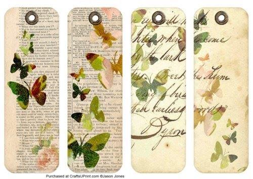 Farfalle e fiori vintage segnalibri–Set tre di Jason Jones Craftsuprint