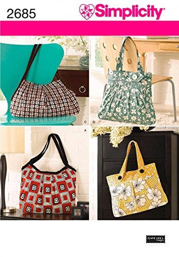 Butterick Accessories Easy Sewing Pattern 5267 Tote Bags in 3 Variations But...