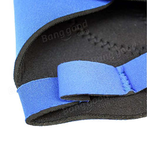 Sports Outdoor Bicycle Rubber Protecting Palms Grips Gloves 1 Pair Blue by Freelance Shop SportingGoods (Image #4)