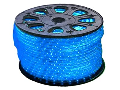 Blue LED Round Rope Lights 3/8 inch - 150 feet (Crazy Lights Brand)