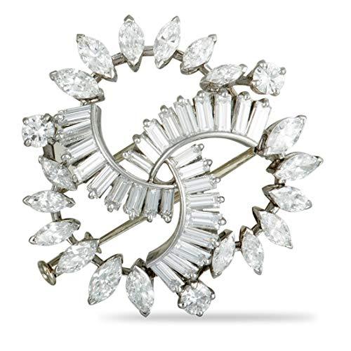 - Boucheron( Est.) Boucheron Vintage Platinum Diamond Brooch