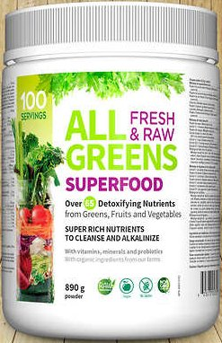Webber Naturals ALL GREENS superfood, 890g powder