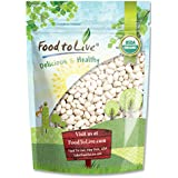 Food to Live Certified Organic Navy Beans (Dry White Small Kidney Pea Beans, Non-GMO, Kosher, Bulk) (3 Pounds)