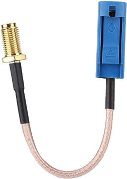 Cable adaptador de antena GPS para automóvil de 13 cm, Fakra macho a conector macho SMA para aplicaciones de RF, antenas, equipos de LAN inalámbrica, ...