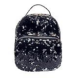 Hemlock Travel Backpacks, Girl's Sequins Bag School Backpack Bag (Black)