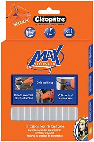 Cléopâtre - POMAX11RCT - CleoStick MAX - Pack de 10 palos de cola potente termofusible: Amazon.es: Oficina y papelería