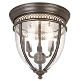 Tools & Hardware : 3-Light Oil Rubbed Bronze Flush Mount