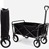 Heavy Duty Collapsible Wagon Fold Up Utility Cart Garden Folding Carts Dump Cart Tools Carrier Wheel Durable 4 Wheel Adjustable Handle Easy Transport Movement Camping Outdoor Lawn & eBook By NAKSHOP