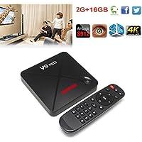 Android 6.0 TV Box, Emubody WIFI Smart TV Box 4K FULL HD Player Quad Core ARM Bluetooth