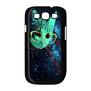 Samsung Galaxy S3 I9300 2D DIY Hard Back Durable Phone Case with Space cat Image