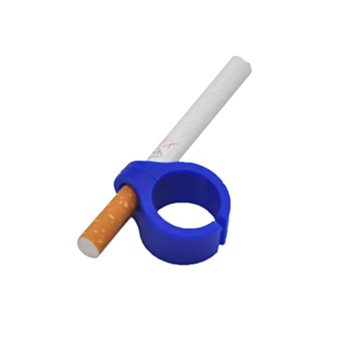 Bluestercool 1 PC Silicone Cigarette Holder, Ring Finger Hand Rack For Smoking Smoker, Console, PS4 PS3 Controller, Guitar Players and Driving (Blue)