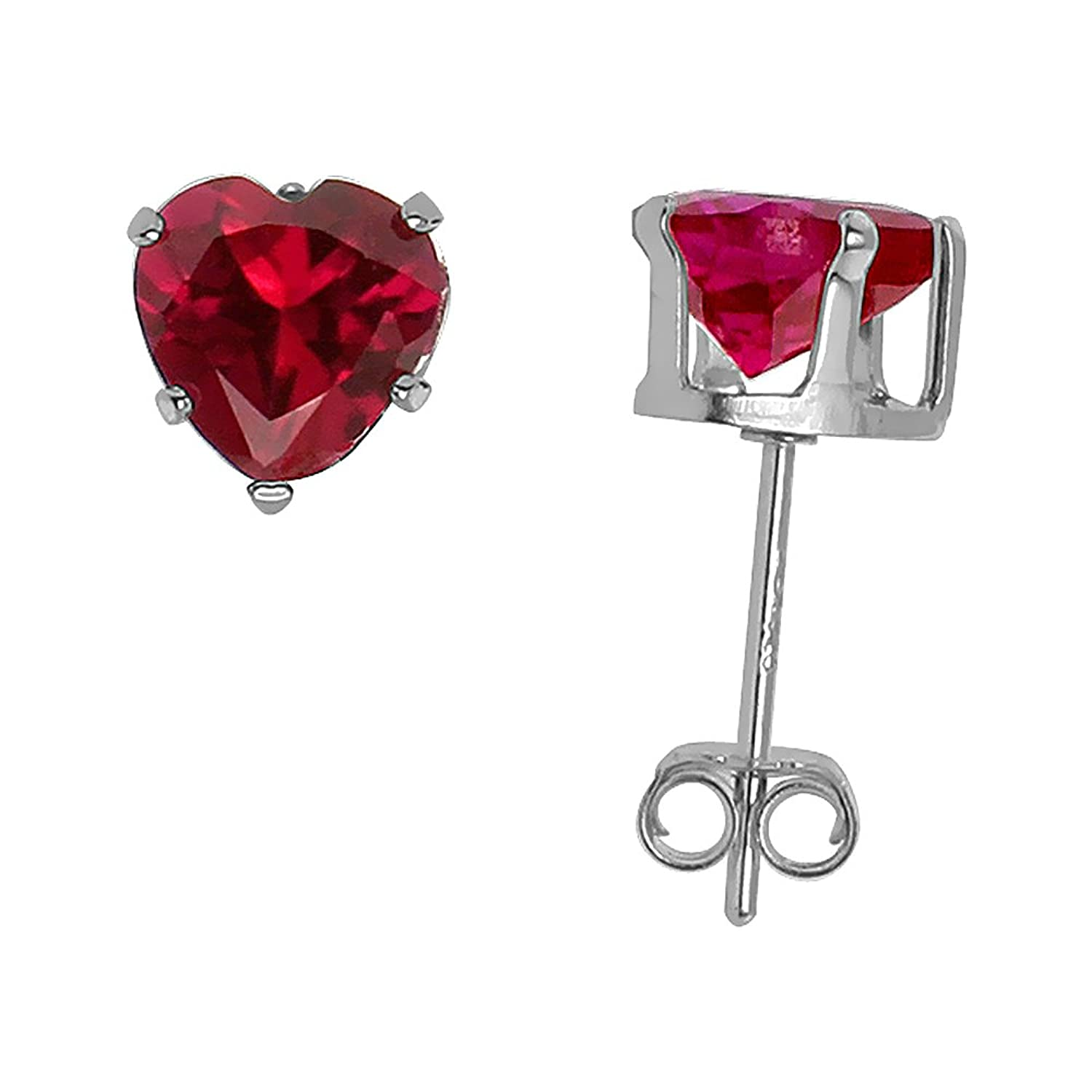 earrings lab jewelers sterling friedman jewellery round grown faviore ruby s product stud