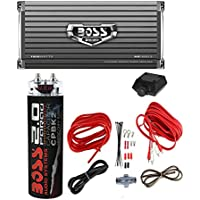 Boss AR1600.2 1600W 2-Ch Car Amplifier + Remote + 2 Farad Capacitor + Amp Kit