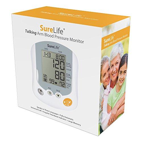 SureLife Premium Talking Arm Blood Pressure Monitor w/Univer